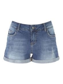 Jane Norman Turn up Denim Shorts