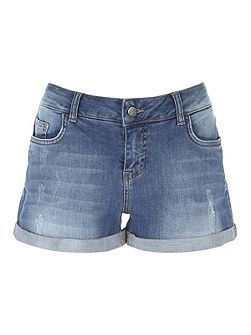 Turn up Denim Shorts
