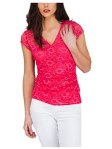 Jane Norman Lace Wrap Style T-Shirt