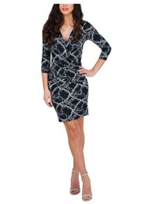 Jane Norman Rope Print Wrap Dress