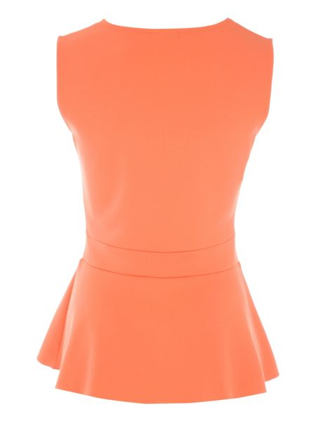 Jane Norman V Front Frill Peplum Top