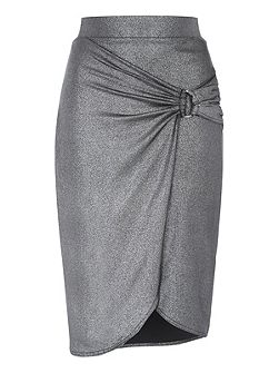 Metallic Split Skirt