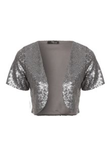 All over sequin shrug