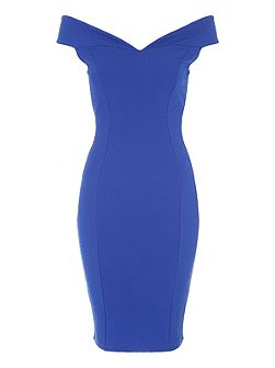 Bardot Solid Bodycon Dress