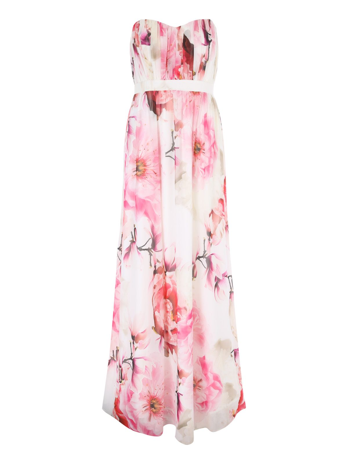 Jane Norman Floral Maxi Dress with Detachable Straps, Multi-Coloured