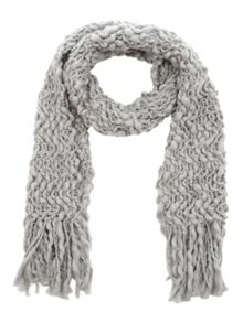 Jane Norman Grey Knitted Scarf