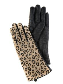 Leather Leopard Gloves