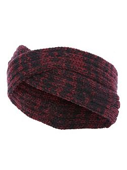 Red & Black Marl Knitted Twist Headband