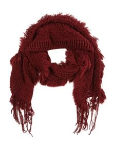 Jane Norman Oxblood Open Weave Bouncy Scarf