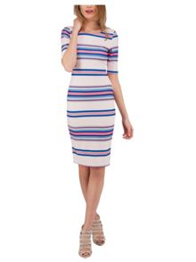 Jane Norman Stripe Print Bodycon Dress