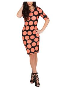 Jane Norman Spot Printed Bodycon Dress