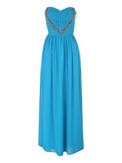 Embellished Maxi Prom Dress
