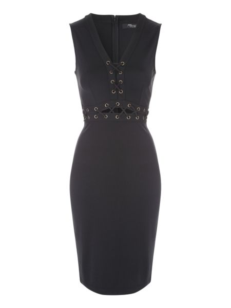 Jane Norman Lace up Bodycon Dress
