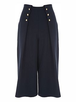 Culotte Button Detail Trouser