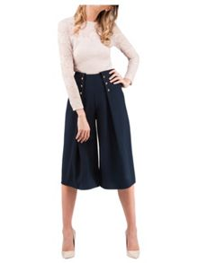 Jane Norman Culotte Button Detail Trouser