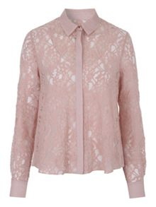 Jane Norman Long Sleeve Lace Blouse