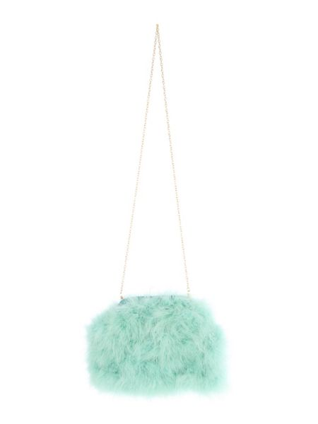 Jane Norman Fluffy Clutch Bag