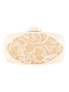 Jane Norman Lace Overlay Box Clutch Bag