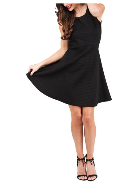 Jane Norman Textured Fit and Flare Dress