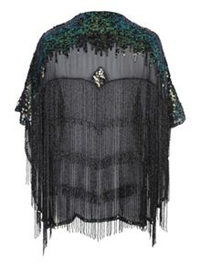Jane Norman Embellished Fringe Shawl
