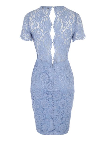 Jane Norman Corded Lace Short Sleeve Dress