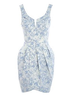 Jacquard Tulip Midi Dress