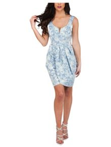 Jane Norman Jacquard Tulip Midi Dress
