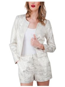 Jane Norman Metallic Long Sleeve Jacket