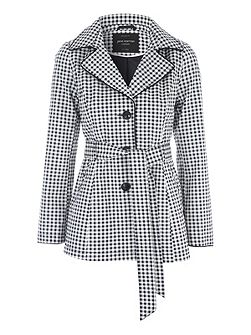 Gingham Mac Jacket