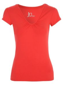 Jane Norman Essential Deep V Short Sleeve T Shirt