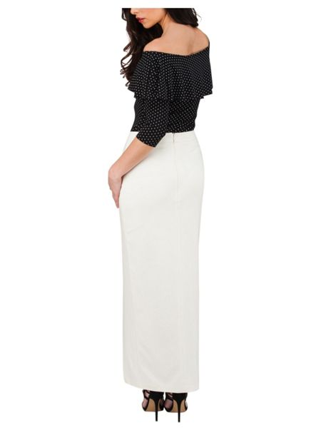 Jane Norman Lace up Maxi Skirt