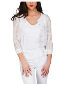 Jane Norman Mesh Long Sleeve Cardigan
