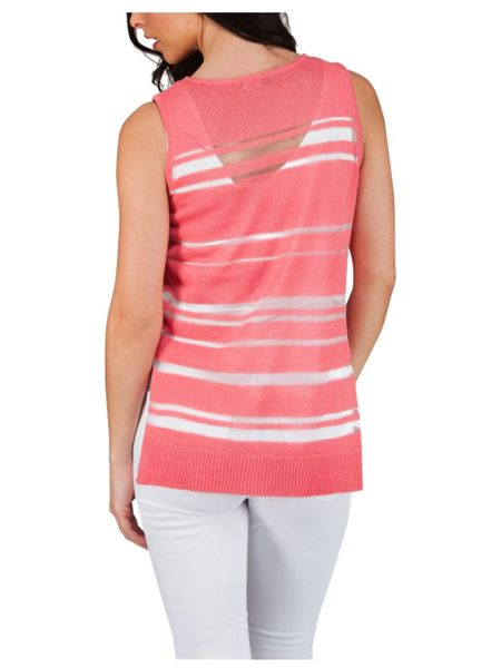 Jane Norman Mesh Stripe Top