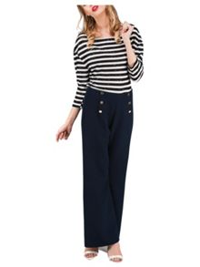 Jane Norman Sailor Button Trouser