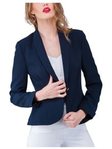 Jane Norman Blazer Style Button Detail Jacket