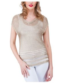 Jane Norman Gold Metallic Jumper