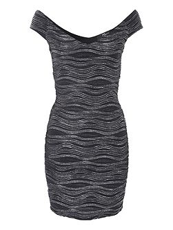 Metallic Ripple Dress