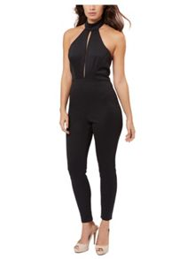 Jane Norman Black High Neck Jumpsuit