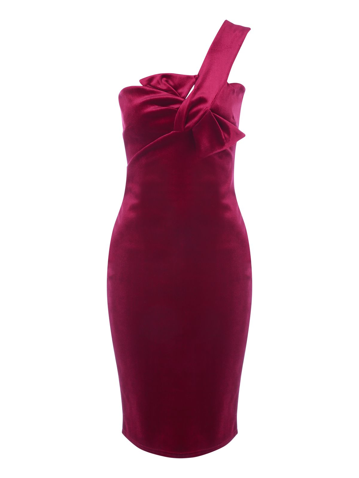 Jane Norman Jane Norman Bow Detail Dress, Red