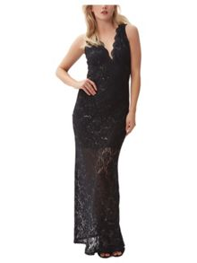 Jane Norman Sequin Lace Maxi Dress