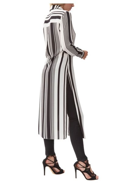Jane Norman Monochrome Longline Shirt