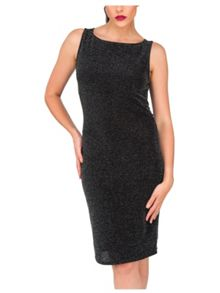 Jane Norman Glitter Cowl Back Dress