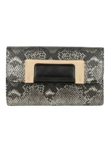 Jane Norman Snake Print Clutch Bag