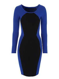 Jane Norman Blue & Black Illusion Jumper Dress