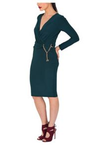 Jane Norman D-Ring Wrap Dress