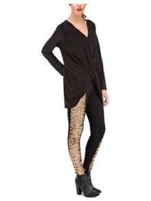 Jane Norman Sequin Front Legging