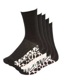 Jane Norman 5PK Socks