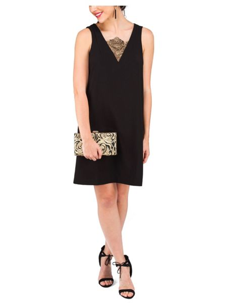 Jane Norman Lace Insert Short Shift Dress