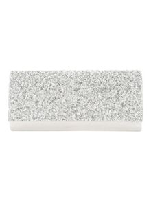 Silver Embelished Diamante Party Clutch