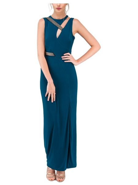 Jane Norman Embellished Maxi Cut-out Dress